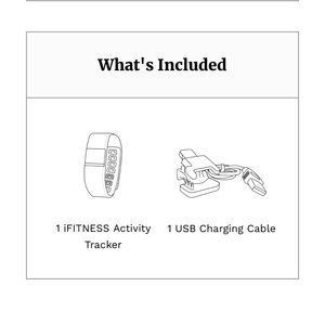 iTouch Wearables Accessories - ⌚️ IFITNESS ACTIVITY TRACKER WHITE & GREY ⌚️